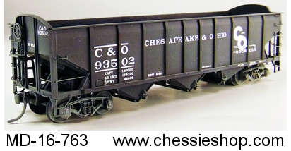 Hopper, C&O Triple, all welded with as built decals