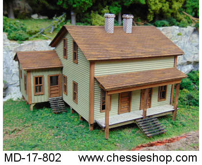 Cliff Top Double House Kit, HO Scale