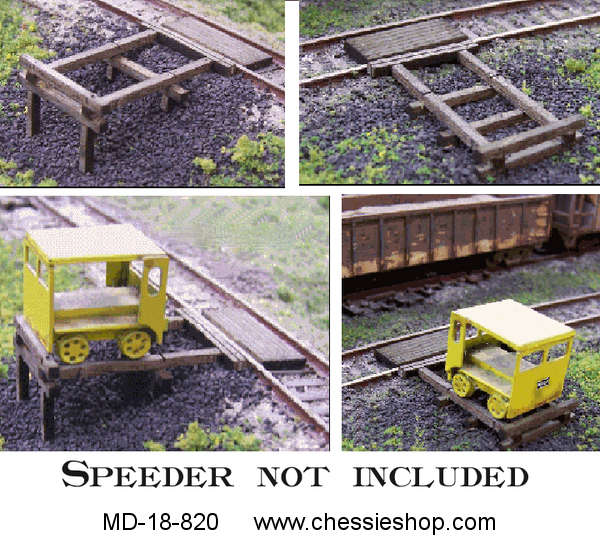 Handcar/Motorcar Set off Kit, 3-Pack, HO -Scale by Blairline
