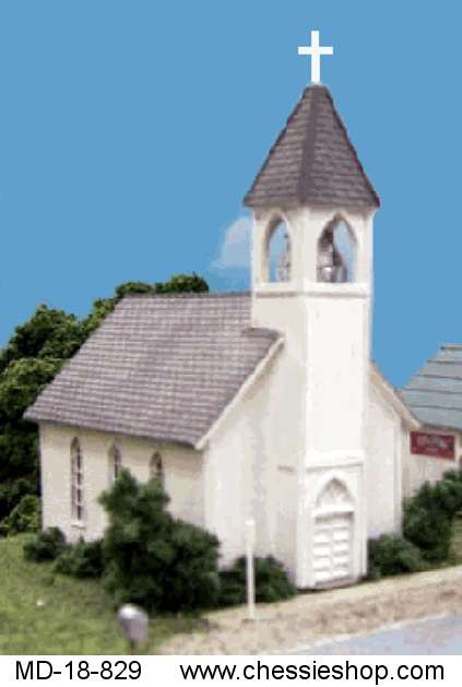 Church, Laser Cut Kit, N-Scale by Blairline