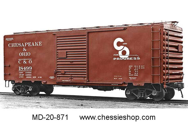 Pullman-Standard PS-1 40ft Boxcar C&O, HO Scale