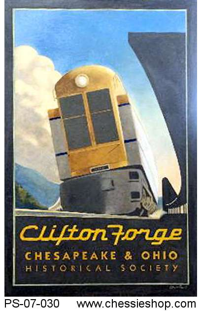 Poster, Clifton Forge Turbine Travel Poster 17X24