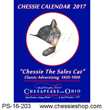 "Calendar, 2017, ""Chessie the Sales Cat"""