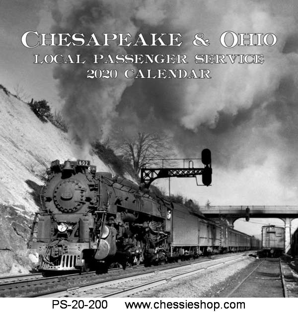 Calendar, 2020, C&O Steam Local Passenger Service