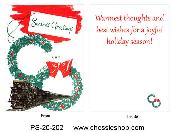 Christmas Cards, C&O (Set of 10)