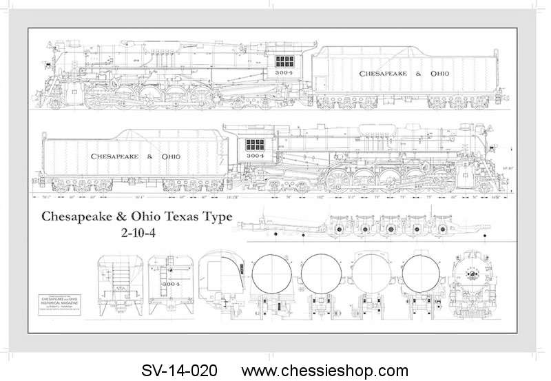 Drawing, Mechanical T-1 Locomotive