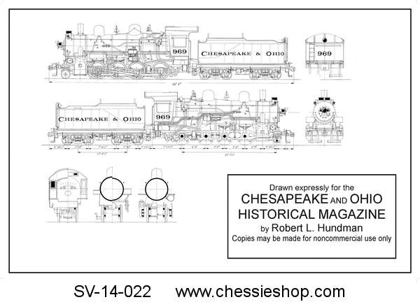 Drawing, Mechanical G-9 Locomotive