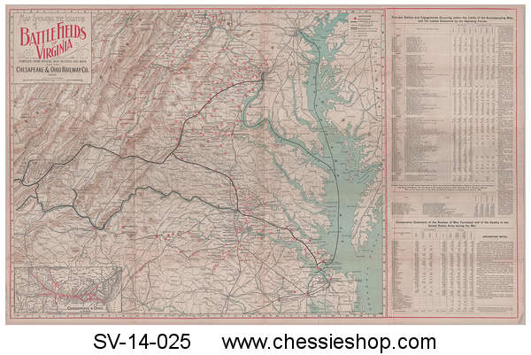 Map, Battlefields of Virginia