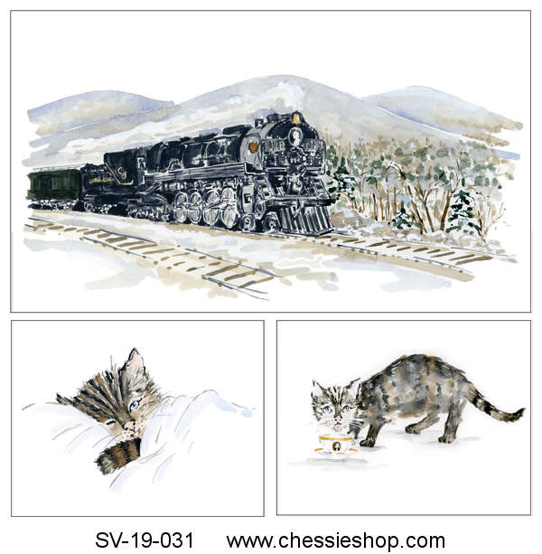 Frameable Print Set, Chessie Takes a Trip