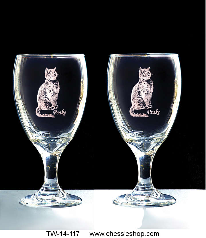 Glasses, Peake Laser Engraved, Ice Tea, Set of 2