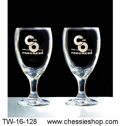 Glasses, C&O For Progress, Laser Engraved, Set of 2