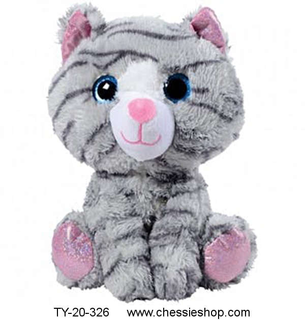 Plush Tabby Cat, Glitter Eyes